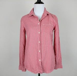 Madewell Broadway and Broome Red Gingham Shirt